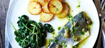 baked-sea-bass-with-lemon-caper-dressing